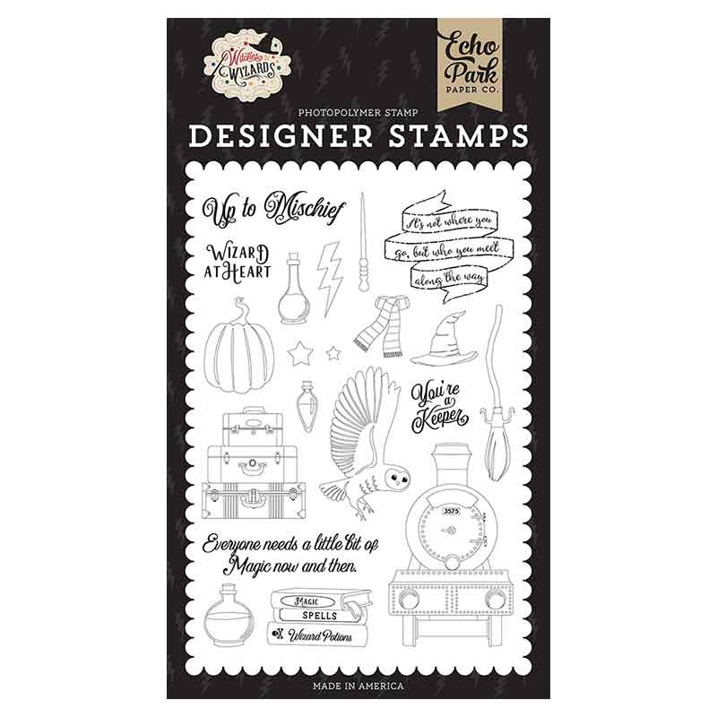 Clear Stamps Wizard at Heart van Echo Park