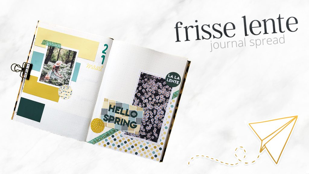 Frisse lente journal spread