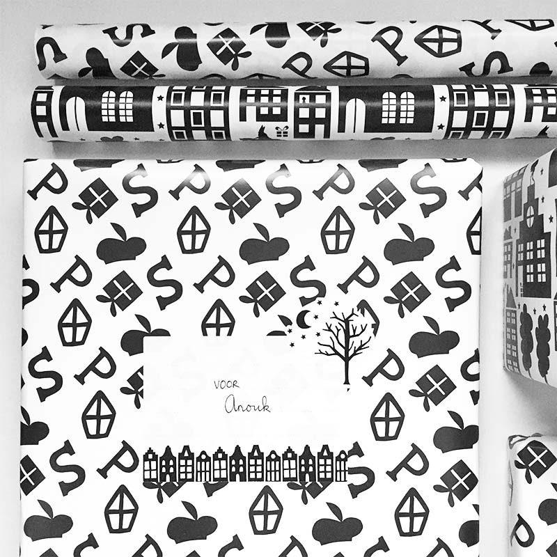 Inpakpapier Sinterklaas van Nouk-san