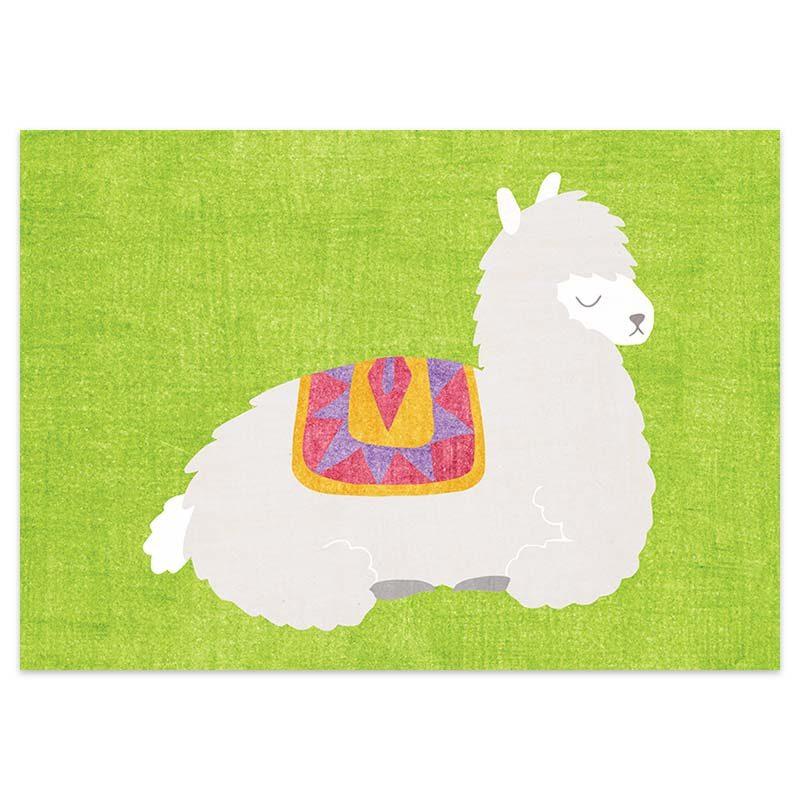 Postkaart Alpaca Groen van Nouk-san